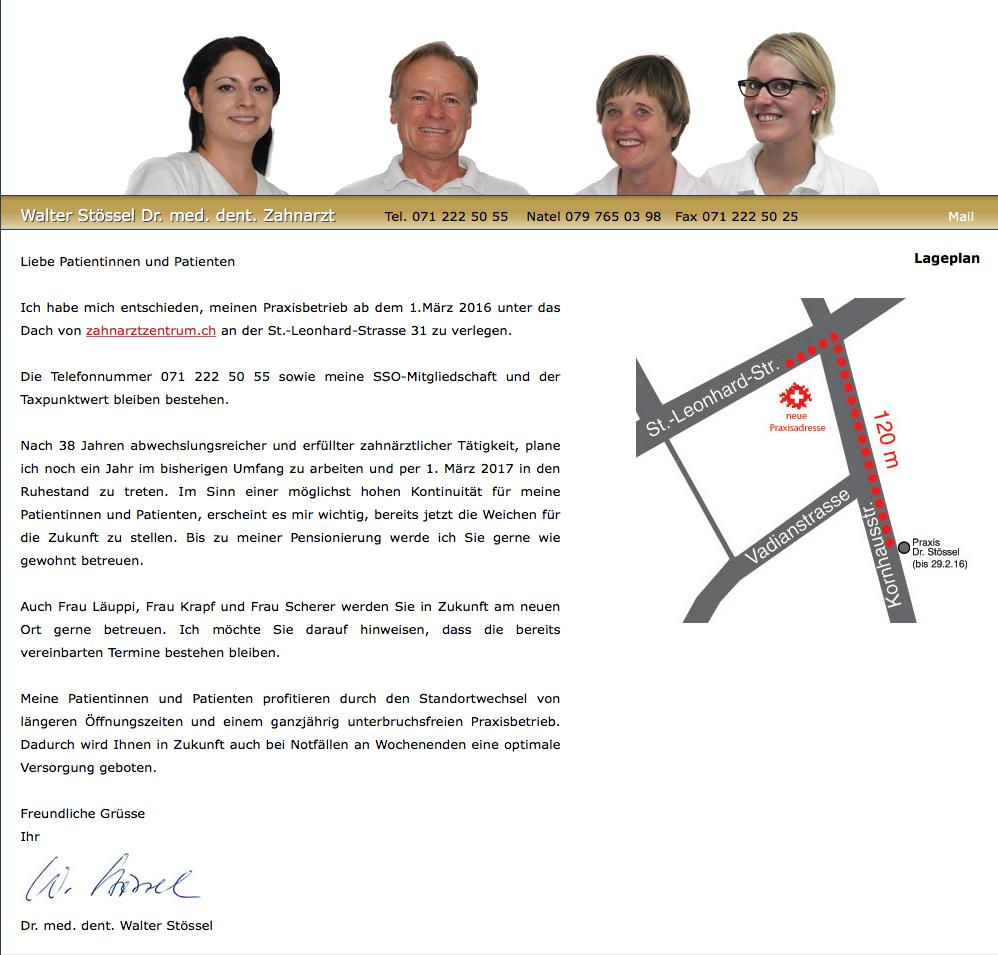 Homepage Dr. Stössel Patienteninformation