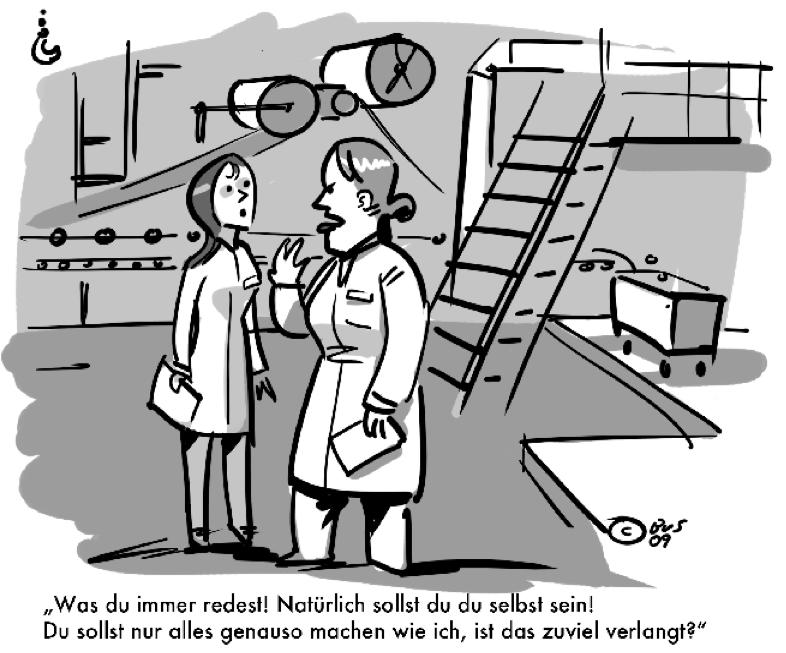 Unternehmensverkauf Cartoon